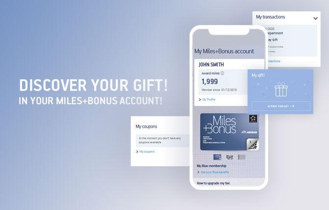 Aegean Miles And Bonus Gift