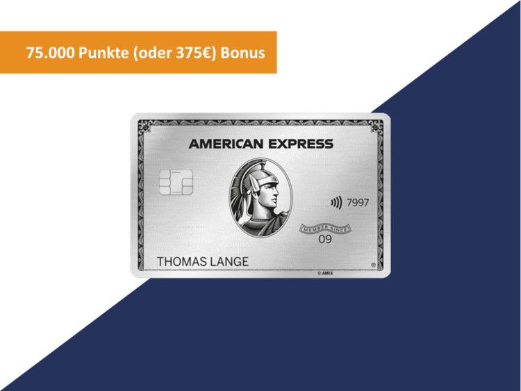 American Express Platinum Kreditkarte 75000 Punkte Bonus