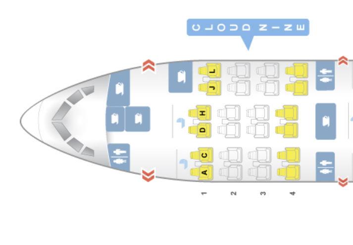 Ethiopian Airlines B767 300 Seatmap Business Class