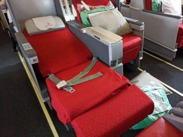 Ethiopian Airlines Business Class B767 300er Bett Fussteil