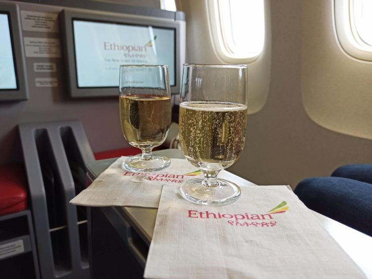 Ethiopian Airlines Business Class B767 300er Champagner