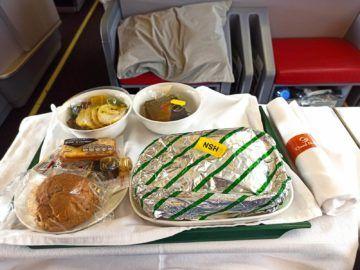 Ethiopian Airlines Business Class B767 300er Essen Verpackt