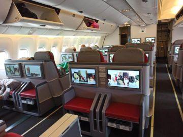 Ethiopian Airlines Business Class B767 300er Kabine Links Und Mitte