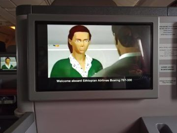 Ethiopian Airlines Business Class B767 300er Sicherheitsvideo