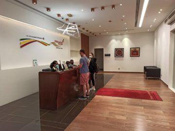 Ethiopian Airlines Sheba Platinum Lounge Addis Abeba Terminal 2 Empfang