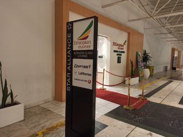 Ethiopian Airlines Sheba Platinum Lounge Addis Abeba Terminal 2 Hinweis Business Class Lounge
