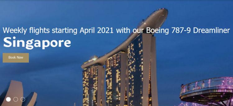 Gulf Air Gibt Strecke Nach Singapur Bekannt