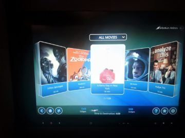 Srilankan Airlines Airbus A330 300 Entertainment Filmauswahl