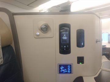 Srilankan Airlines Business Class A330 Anschluesse Controller Steckdose