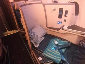 Srilankan Airlines Business Class A330 Einzelsitz Flach Von Vorne
