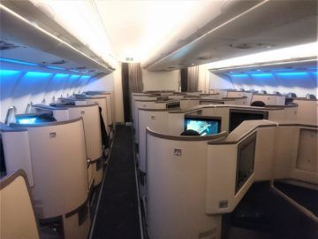 Srilankan Airlines Business Class A330 Kabine Von Hinten