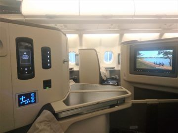 Srilankan Airlines Business Class A330 Mittelsitz Trennung Monitor