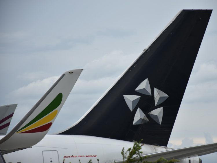 Star Alliance Logo Ethiopian Airlines B767 300er