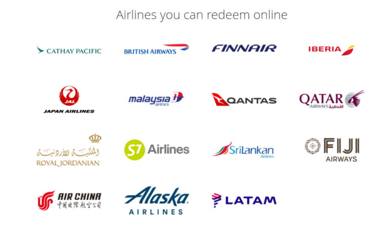 Online buchbare Partnerairlines bei Cathay Pacific Asia Miles