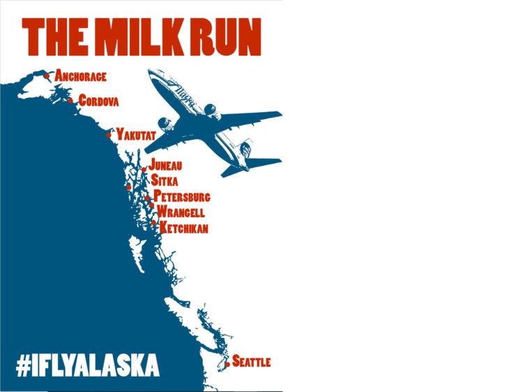 Alaska Airlines Milk Run Poster