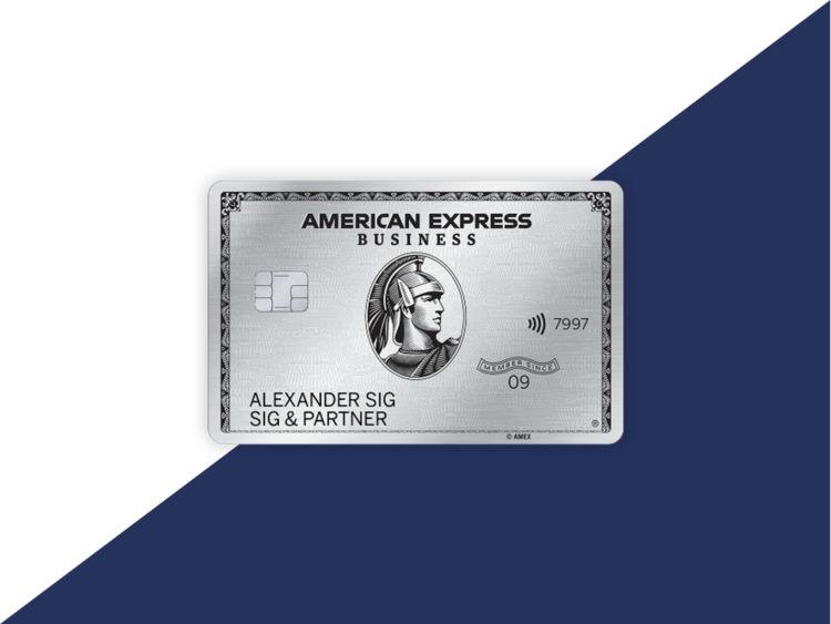 American Express Business Platinum Kreditkarte Metall
