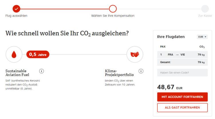 Austrian Airlines Compensaid Berechnung