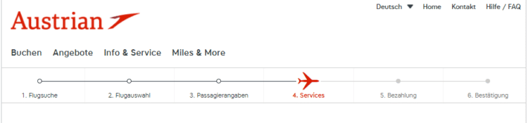 Austrian Airlines Flugbuchung Services