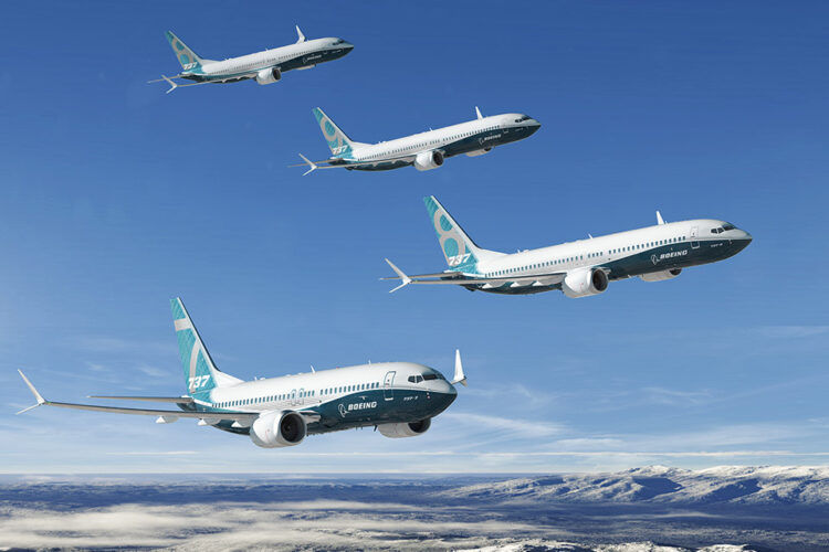 Boeing 737 Max Familie Copyright Boeing