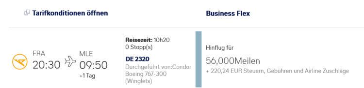 Miles And More Prämienflug Condor Frankfurt Male