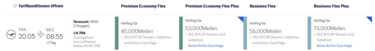 Miles And More Prämienflug Lufthansa Frankfurt Male