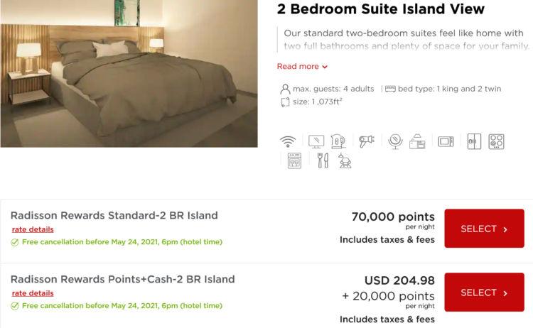 Radisson Blu Aruba 2 Bedroom Suite Radisson Rewards Punkte