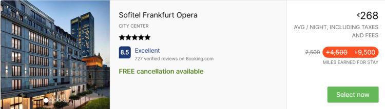 Rocketmiles Asia Miles Sofitel Frankfurt Opera