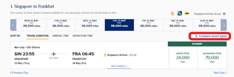Singapore Airlines Krisflyer Neue Award Kategorie Finden