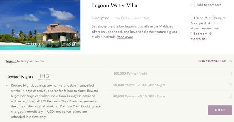 Six Senses Laamu Malediven Ihg Rewards Punkte