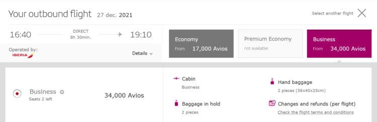 Iberia Plus Praemienflug Iberia Business Class Madrid New York