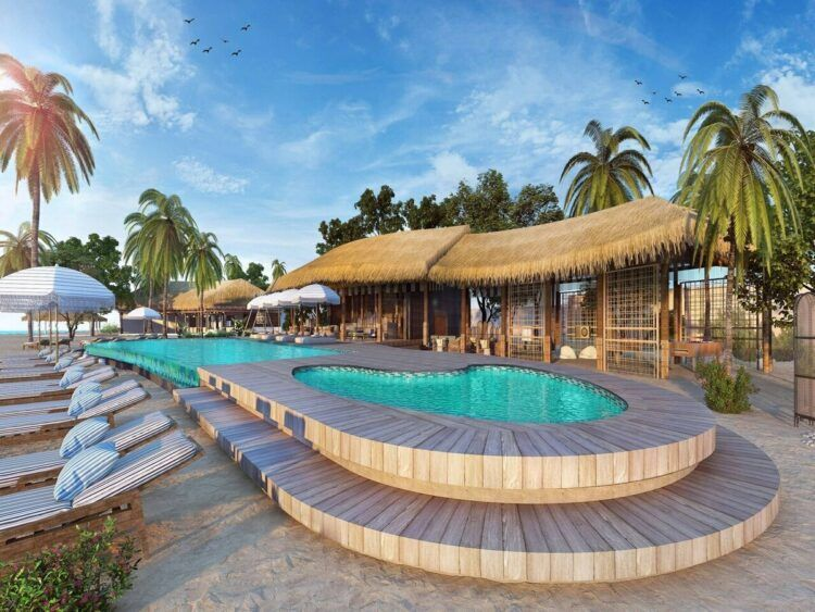 Le Meridien Maldives Resort And Spa Pool Copyright
