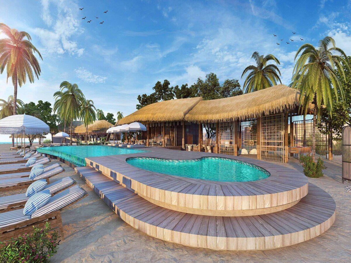 Le Meridien Maldives Resort And Spa Pool Copyright