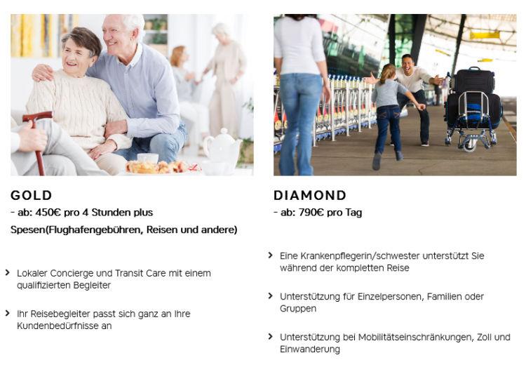 Medical Travel Companions Preise Austrian