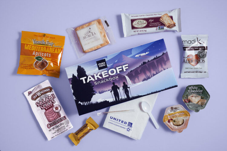 United Airlines Buy On Board Snack Box