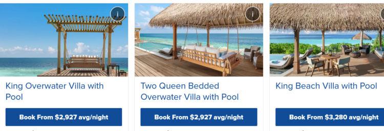 Waldorf Astoria Maldives Beispielpreise