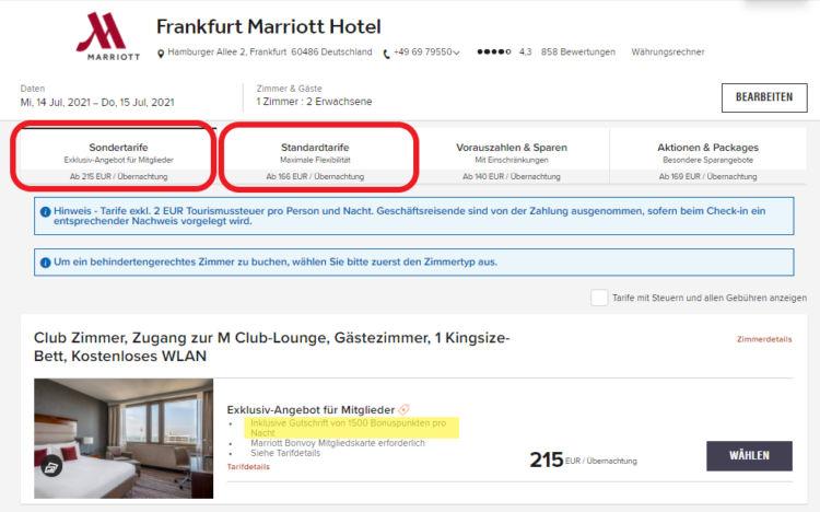 Frankfurt Marriott Hotel Rhein Main Promotion