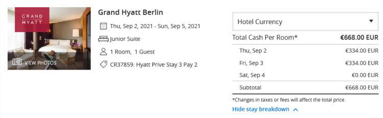 Grand Hyatt Berlin Hyatt Prive 3 Fuer 2 Junior Suite