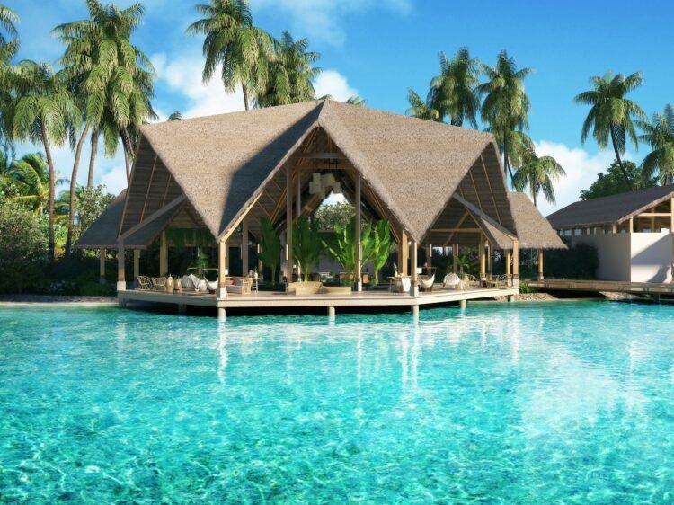 Hilton Maldives Amingiri Rezeption Lounge Copyright