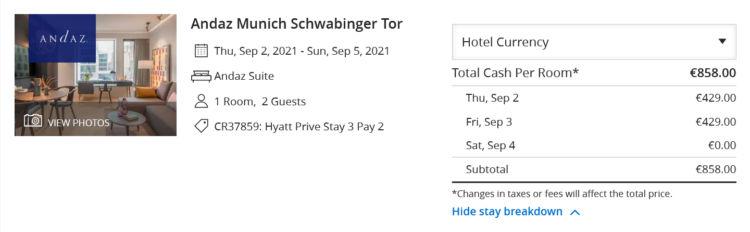 Hyatt Prive 3 Fuer 2 Andaz Muenchen Andaz Suite Sep 2021