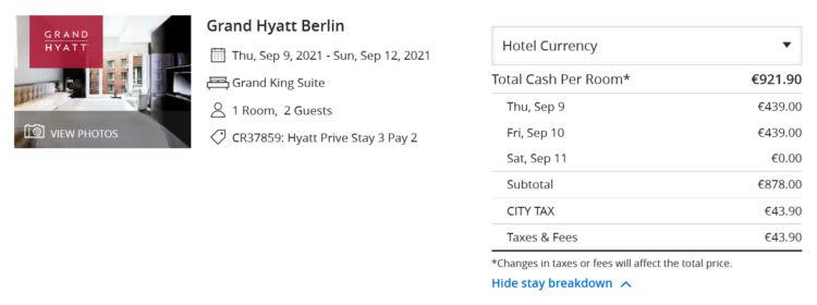 Hyatt Prive 3 Fuer 2 Grand Hyatt Berlin Grand King Suite Sep 2021