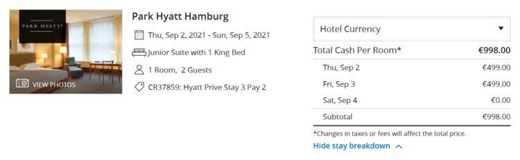 Hyatt Prive 3 Fuer 2 Park Hyatt Hamburg Junior Suite Sep 2021