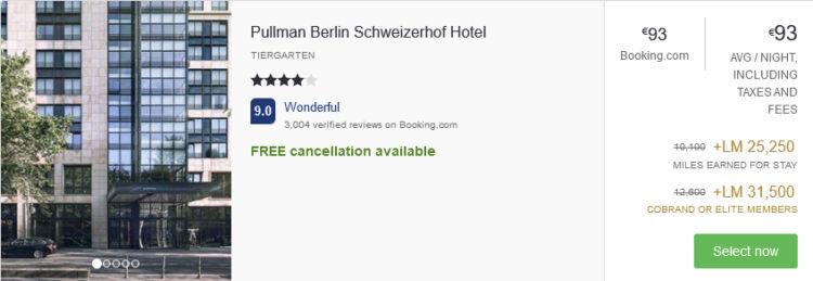 Lifemiles Hotel Aktion Pullman Berlin