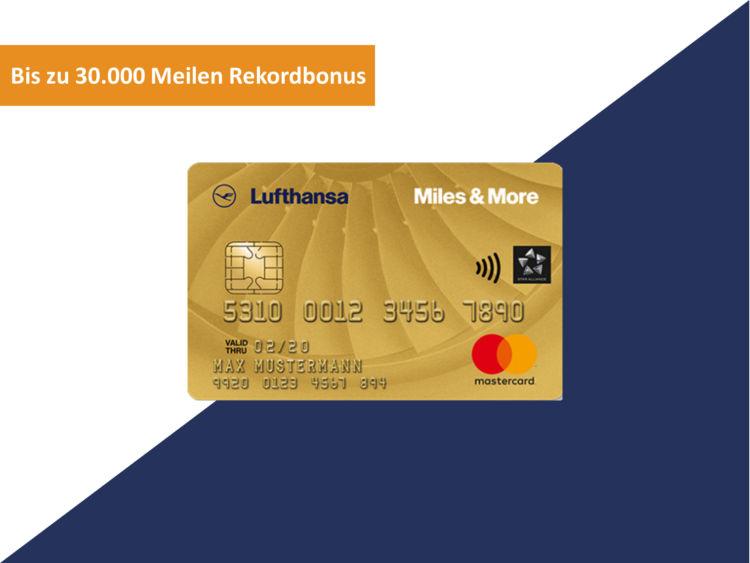 Miles And More Gold Kreditkarte Rekordbonus 30000 Meilen