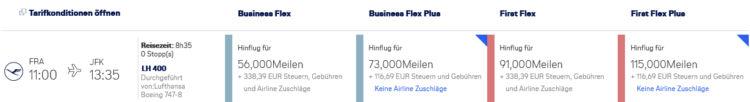 Miles And More Praemienflug Lufthansa First Class Fra Jfk