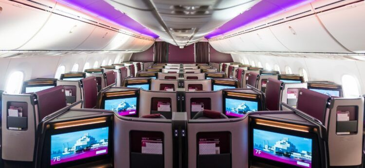 Qatar Airways Business Class Suite Boeing 787 9 Kabine