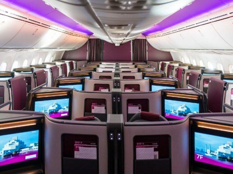 Qatar Airways Business Class Suite Boeing 787 9 Kabine Klein