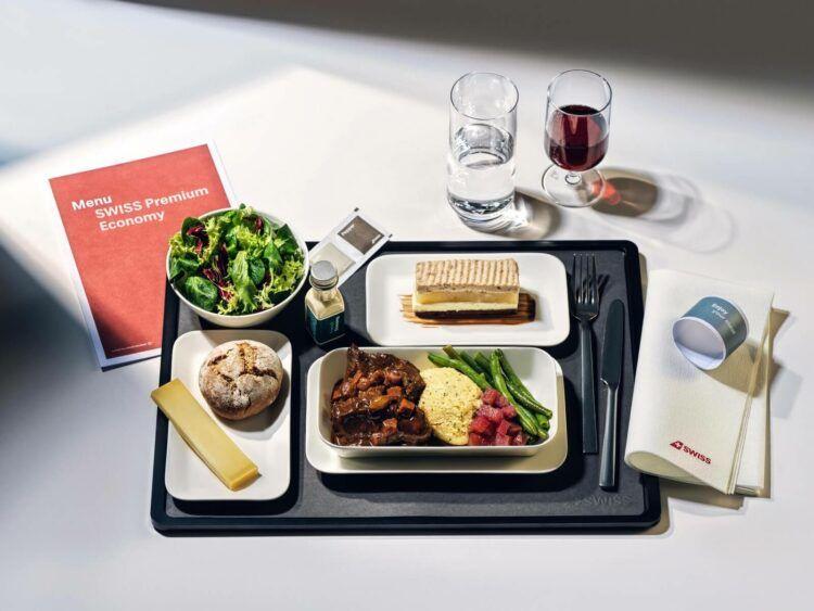Swiss Premium Economy Class Catering