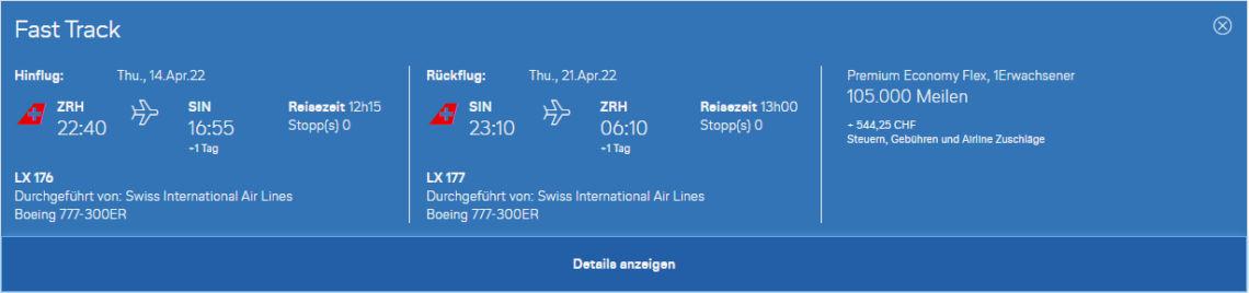 Swiss Premium Economy Class Miles And More Buchen