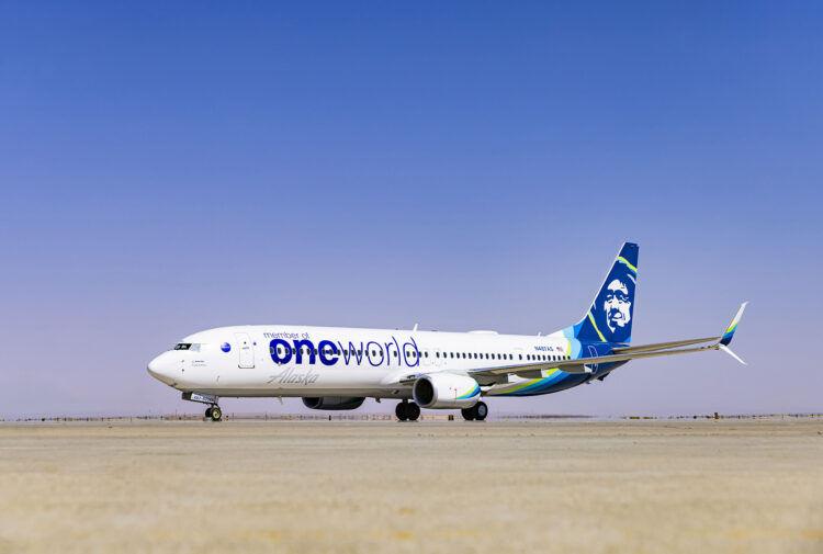 Alaska Airlines 737 Oneworld Livery Copyright Alaska
