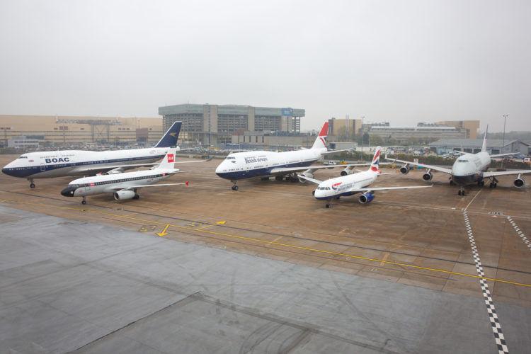 British Airways Flotte Sonder Lackierung